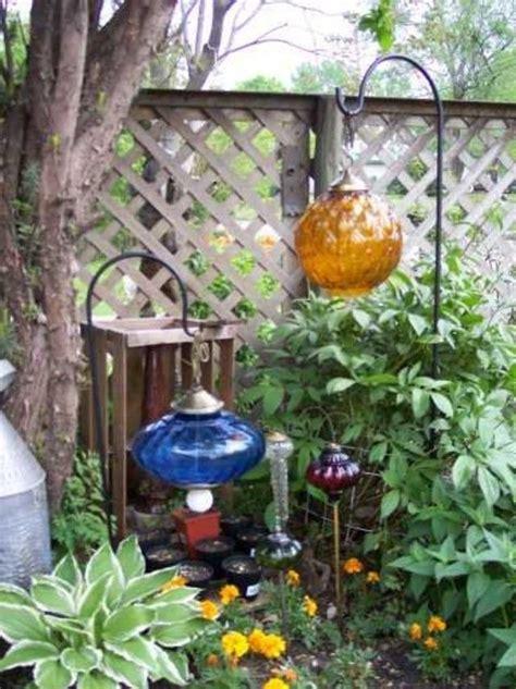 lamp base hanging   garden  hookideas garden junk