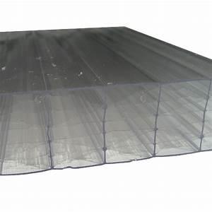 Plaque Alvéolaire Pour Toiture : plaque polycarbonate alv olaire claire 32 mm 1 25 m ~ Edinachiropracticcenter.com Idées de Décoration