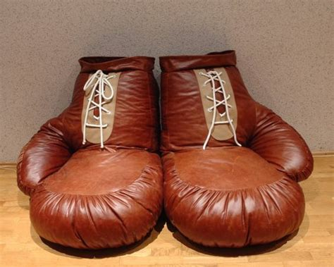 bean bags boxing gloves and boxing on