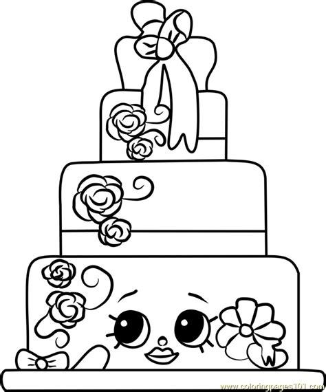 wendy wedding cake shopkins coloring page  shopkins