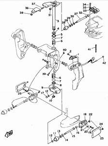 1995 yamaha bracket 2 parts for 70 hp 70tlrt outboard motor With outboard wiring diagram likewise 70 hp johnson outboard wiring diagram
