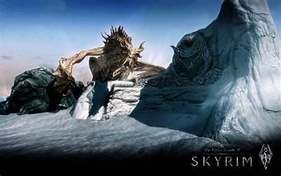 Skyrim Elder Scrolls Wallpapers Tes Dragons Dragon