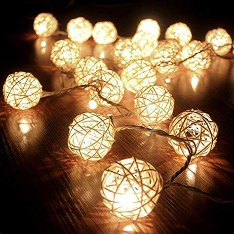 guirlande lumineuse deco chambre cmyk guirlande boule rotin blanc 20 boules guirlande