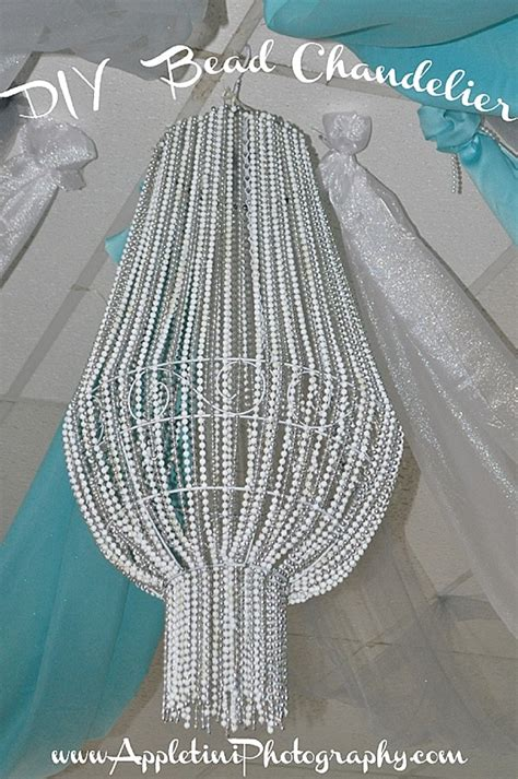 diy bead chandelier ideas for decorating on a budget