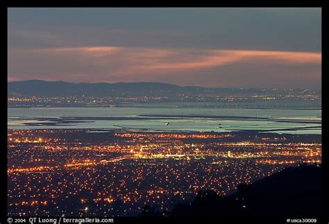 picture photo south end of the bay with city lights at