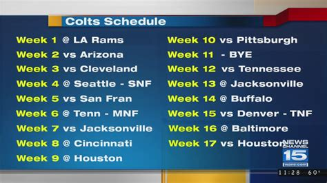 colts reveal schedule  upcoming nfl season youtube