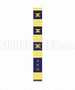 alpha nu omega greek letter kente graduation stole navy blue With greek letter stoles