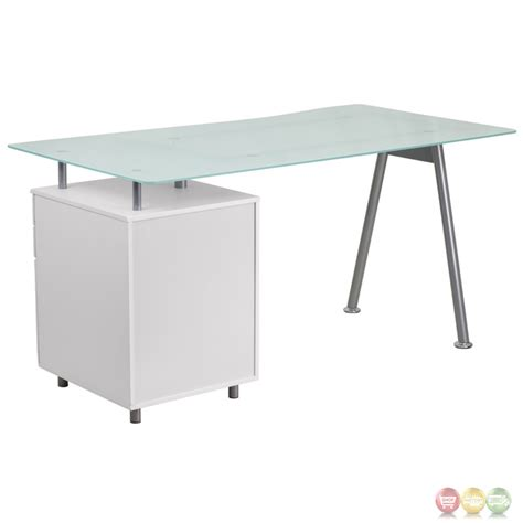 white pedestal desk with drawers white computer desk with glass top and three drawer pedestal