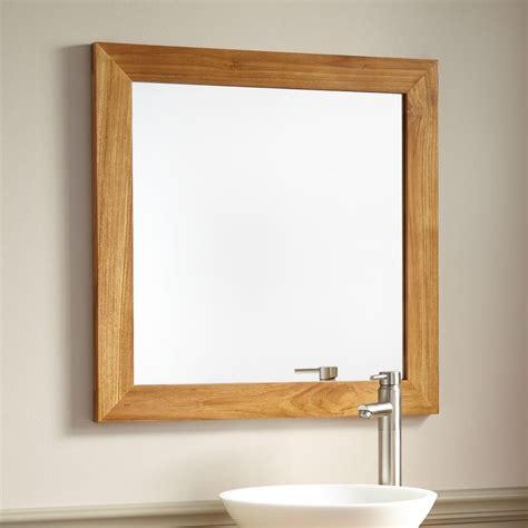 wooden bathroom mirrors 20 inspirations wood framed mirrors mirror ideas 1522
