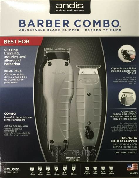 andis barber combo  clipper envy trimmer