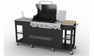 Meuble De Cuisine Exterieur : barbecue complet inox incorpor dans un meuble de cuisine ~ Melissatoandfro.com Idées de Décoration