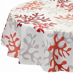 Nappe Ovale Enduite : nappe enduite ronde ou ovale corail rouge ~ Teatrodelosmanantiales.com Idées de Décoration