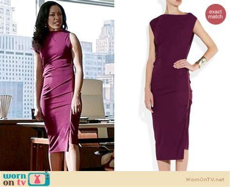 wornontv jessicas magentapurple side zip dress  suits
