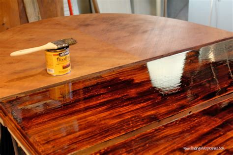 staining furniture  finding silver pennies