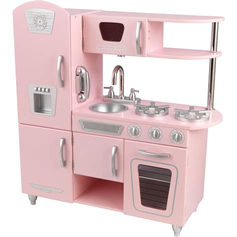 cuisine vintage kidkraft lightning deal kidkraft vintage kitchen in pink at 3pm