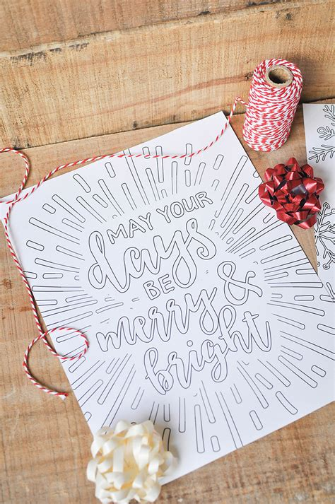 printable white christmas adult coloring pages  handcrafted life