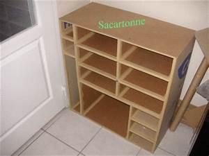 meuble de rangement en carton tout krafte sacartonne With creer un meuble de rangement