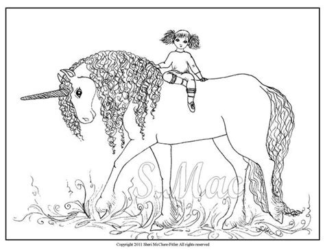items similar  fantasy coloring page unicorn