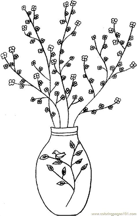 flower vase coloring page eskayalitim