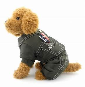 Small Girl Boy Dog Clothes Dog Coat Badge Jumpsuits Pants Army General Outfits | eBay