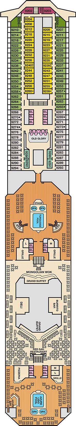Carnival Splendor Lido Deck Plan by Carnival Lido Deck Deck Plan Carnival Deck 9