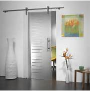 Modern Glass And Stainless Sliding Barn Door Manet System From Glass Doors Double Door Design Glass Doors Internal Glass Doors Italian Interior Doors Modern Doors New Modern Entry Door LiveModern Your Best Modern Home