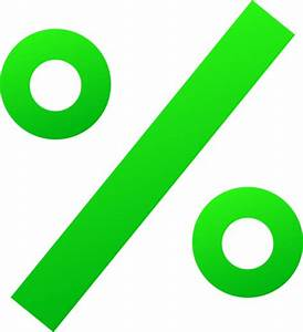 Green Percentage Sign - Free Clip Art