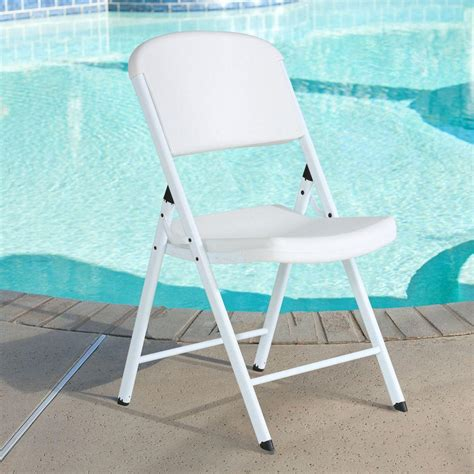 lifetime white folding chair set of 4 80359 the home depot