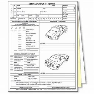 premium check registers 3 part vehicle check in report 2 door auto body supplies