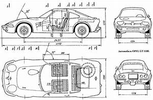 Diagram Esterior Opel Gt 1100