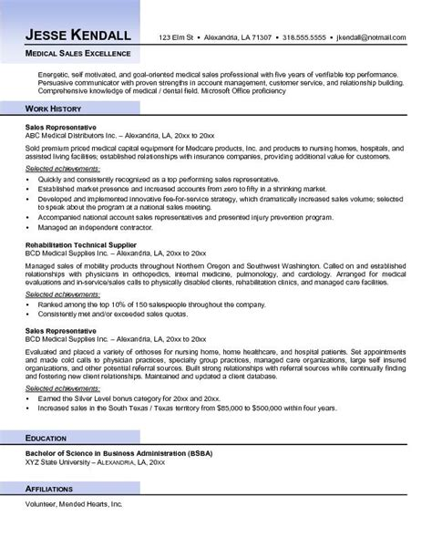 Free Healthcare Resume Sles by Exle Sales Resume Free Sle
