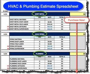 Plumbing Work Estimate by 28 Estimate Spreadshee And Estimate Spreadsheet