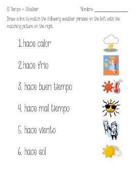 el tiempo spanish weather vocabulary introduction by
