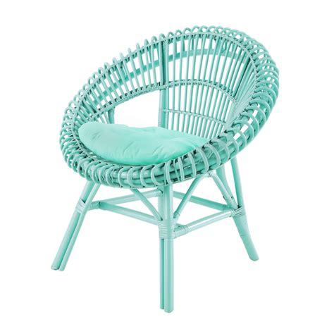 fauteuil en rotin vert d eau smoothie maisons du monde