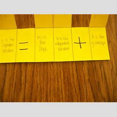Math = Love New Y=mx+b Foldable