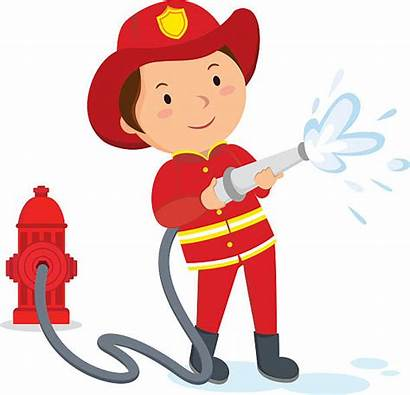 Firefighter Clip Vector Fireman Clipart Feuerwehrschlauch Illustrations