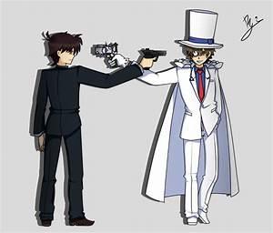 Kudo Shinichi vs Kaito Kid by happygirlXD on DeviantArt