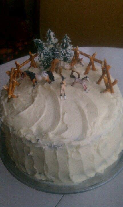 horse cake pretzel fence idea horse cake farm cake