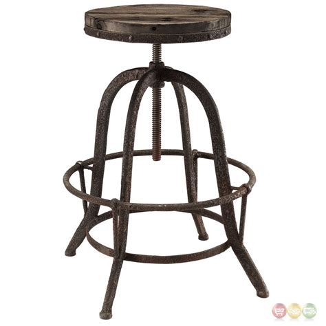 iron counter stool set of 4 collect industrial bar stool w wood seat cast 1927