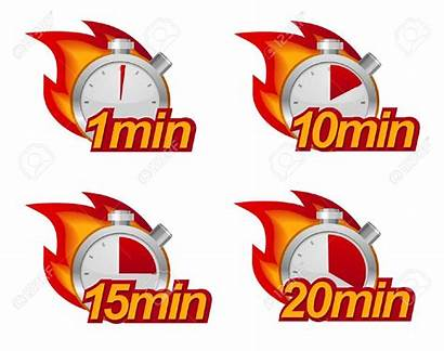 Minutes Minute Clipart Timer Min Timers Ten