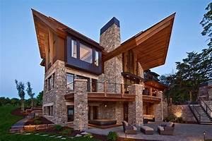 Magnifique Maison Pierre Et Bois Mountain Modern Par