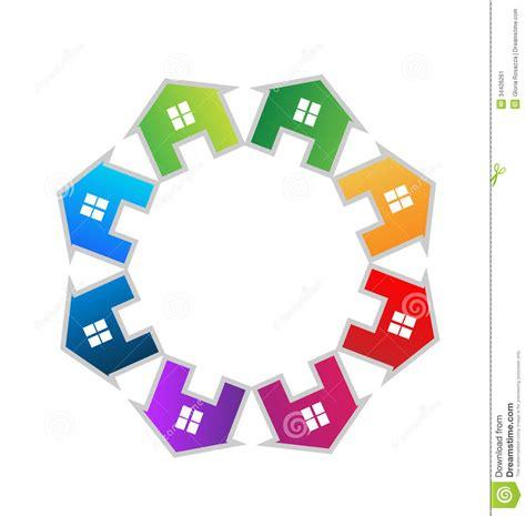 teamwork houses logo stock image image