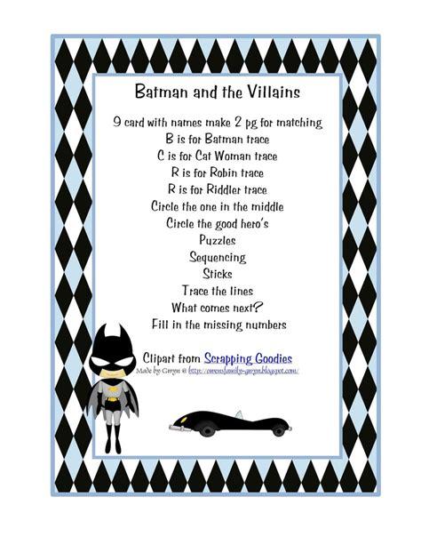 99 preschool printables batman preschool theme 450 | be02857f4d3f9ba203f4ce39086fb2b0 preschool printables preschool activities