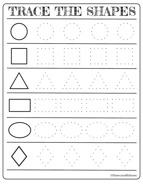 free printable shapes worksheets for toddlers and preschoolers 282 | tracing shapes printable 785x1024