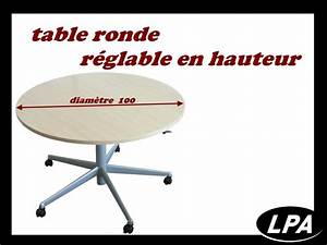 Table Ronde Diametre 100 : table ronde r glable sur roulette table mobilier de bureau lpa ~ Teatrodelosmanantiales.com Idées de Décoration