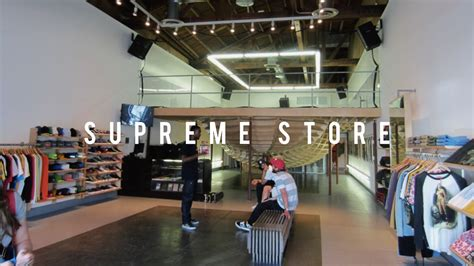 supreme store in los angeles youtube