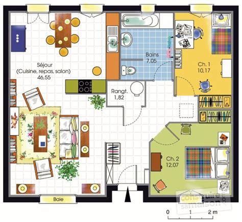 plan maison plain pied 3 chambres cuisine plan maison neuve plain pied plan maison plain