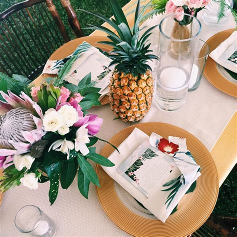 tropical table ls cheap tropical theme party dinner brunch wedding