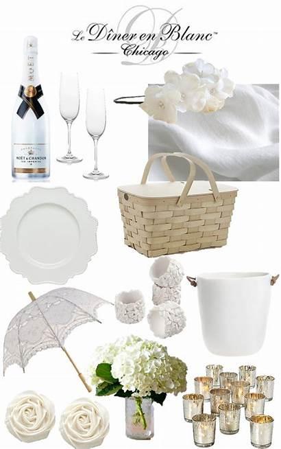 Blanc Dinner Picnic Diner Party Romantic Summer