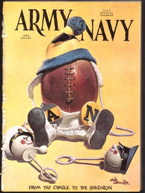 army navy vintage college football programs collectibles